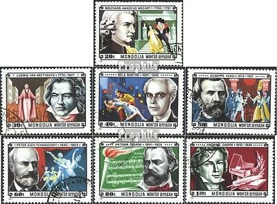 Mongolia 1429-1435 (complete issue) used 1981 Composers