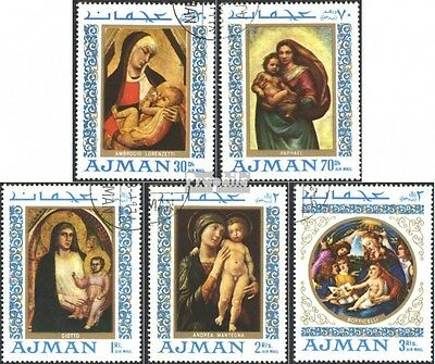 Ajman 327A-331A (complete issue) used 1968 Madonna painting