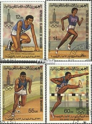Mauritania 652-655 (complete.issue) used 1979 olympic. Summer,
