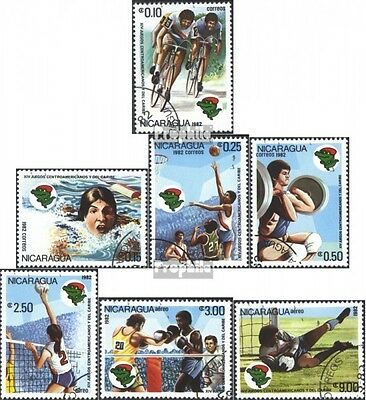 Nicaragua 2272-2278 (complete issue) used 1982 zentralam.-Carib