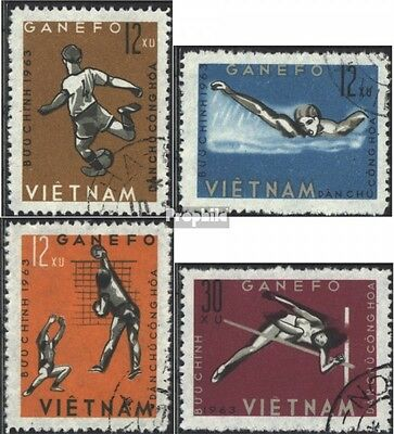 Vietnam 283-286 (complete issue) used 1963 Sports Games in Jaka