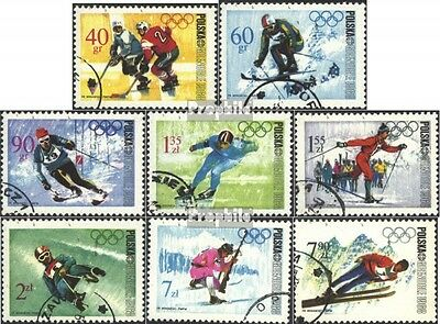 Poland 1820-1827 (complete issue) used 1968 Winter Olympics ´68