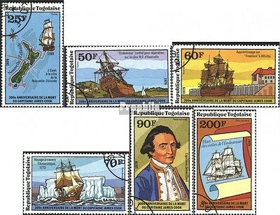 Togo 1340A-1345A (complete.issue) used 1979 200. Death V. capta