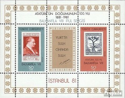 Turkey block20 (complete issue) unmounted mint / never hinged 1981 BALKANFILA 80