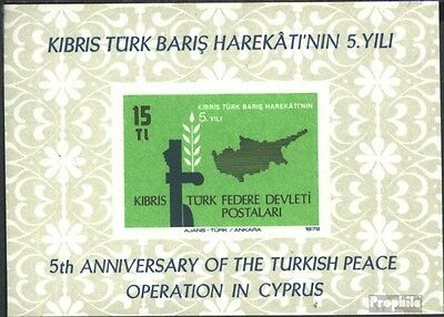 Turkish-Cyprus block1 (complete issue) unmounted mint / never hinged 1979 interv
