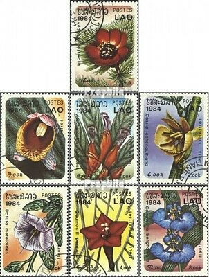 Laos 743-749 (complete issue) used 1984 Flowers