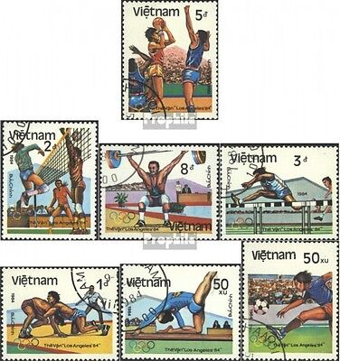 Vietnam 1451A-1451G (complete issue) used 1984 olympic. Summer