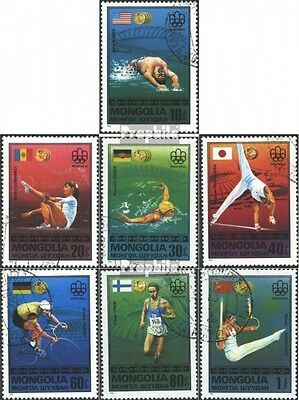 Mongolia 1023-1029 (complete issue) used 1976 Medalists `76