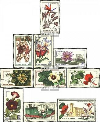 Romania 2442-2451 (complete issue) used 1965 Botanical Garden