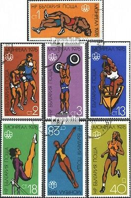 Bulgaria 2501-2507 (complete issue) used 1976 Olympics Summer,