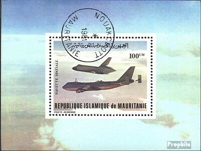 Mauritania block31 (complete issue) used 1981 first Flights of