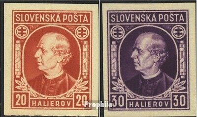 Slovakia 37D-38D, ungezähnt (complete issue) unmounted mint / never hinged 1939