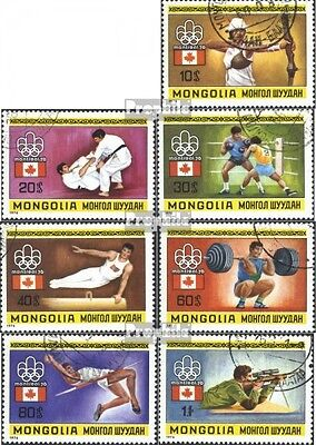Mongolia 990-996 (complete issue) used 1976 Olympics Games in M