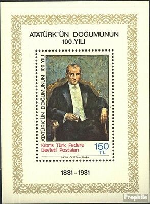 Turkish-Cyprus block2 (complete issue) unmounted mint / never hinged 1981 100 ar