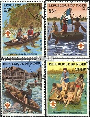 Niger 796-799 (complete issue) used 1982 75 years Scouts