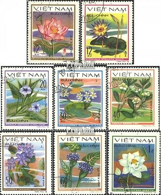 Vietnam 1077-1084 (complete issue) used 1980 Water Flowers
