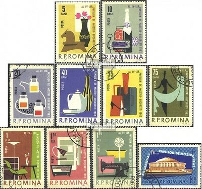 Romania 2105-2114 (complete issue) used 1962 Mustermesse Buchar