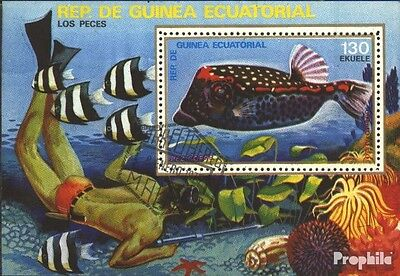 Equatorial-Guinea block312 (complete issue) used 1979 Fish