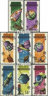 Burundi 167A-174A (complete issue) used 1965 100. years Telecom