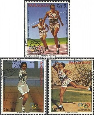 Paraguay 3629-3631 (complete issue) used 1983 olympic. Summer ´
