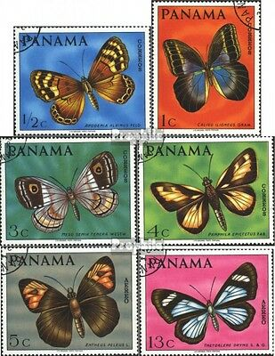 Panama 1056-1061 (complete.issue) used 1968 Butterflies