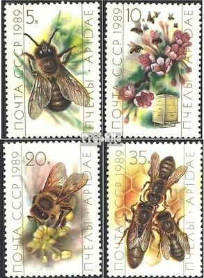 Soviet-Union 5950-5953 (complete issue) used 1989 Bees