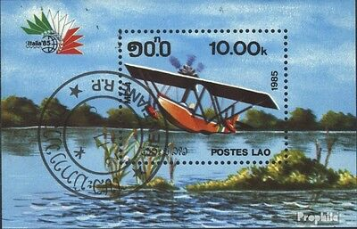 Laos block 108 (complete issue) used 1985 Aircraft