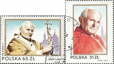 Poland 2868-2869 (complete issue) used 1983 Pope Johannes Paul