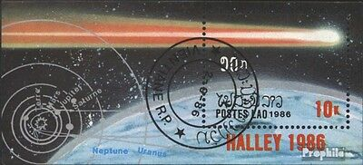 Laos block112 (complete issue) used 1986 Halley Comet