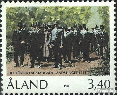Finland-Aland 63 (complete issue) unmounted mint / never hinged 1992 70 years Di