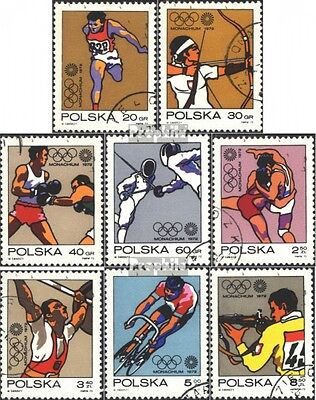 Poland 2149-2156 (complete issue) used 1972 Olympics Games `72,