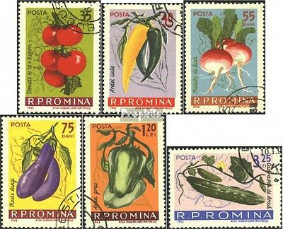 Romania 2131-2136 (complete issue) used 1963 Vegetables
