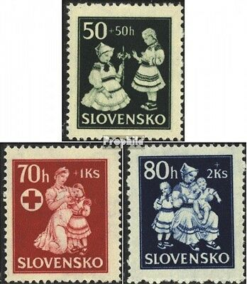 Slovakia 112-114 (complete issue) unmounted mint / never hinged 1943 Childrens A