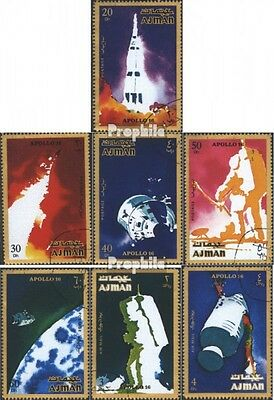 Ajman 1014A-1020A (complete issue) used 1971 Apollo 16
