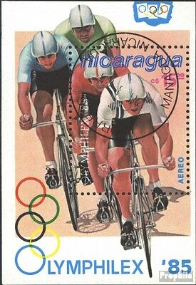 Nicaragua block163 (complete issue) used 1985 OLYMPHILEX ´85, L