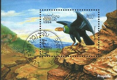 Laos block148 (complete issue) used 1994 Prehistoric Birds