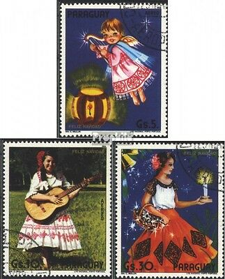 Paraguay 3832-3834 (complete issue) used 1985 christmas 1984