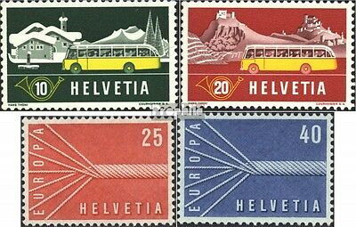 Switzerland 586-587,646-647 (complete issue) used 1953 alpine p