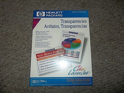 HP color laser jet transparencies (50 Sheets) 8.5X11 in