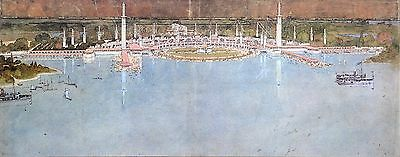 Frank Lloyd Wright Ltd. Edition Lithograph 52x38cm Amusement Park Wolf Lake 1895
