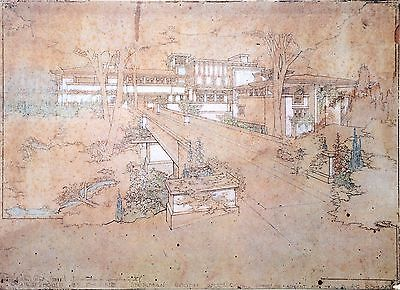 Frank Lloyd Wright Lithograph 52x38 Sherman M. Booth House Glencoe Illinois 1911