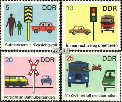 DDR 1444-1447 (complete.issue) used 1969 Traffic Safety
