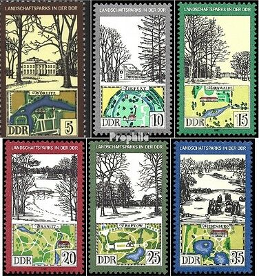 DDR 2611-2616 (complete.issue) used 1981 Landscape Park
