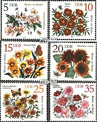 DDR 2737-2742 (complete.issue) used 1982 Autumn Flowers
