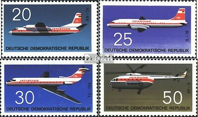 DDR 1524-1527 (complete.issue) used 1969 aircraft types