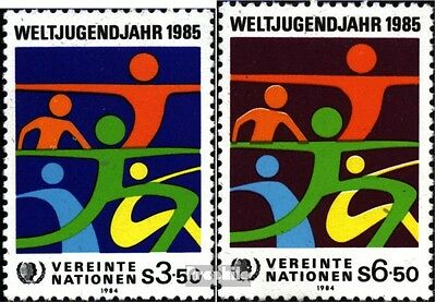 UN-Vienna 45-46 (complete issue) unmounted mint / never hinged 1984 Year the You