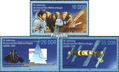 DDR 3190-3192 (complete.issue) used 1988 Space flight