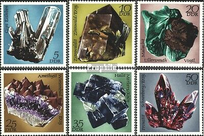 DDR 1737-1742 (complete.issue) used 1972 Mineral discoveries