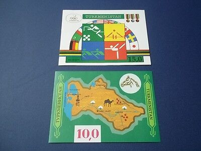 Turkmenistan S/S's. Map & Barcelona 1992. Mint - NH.
