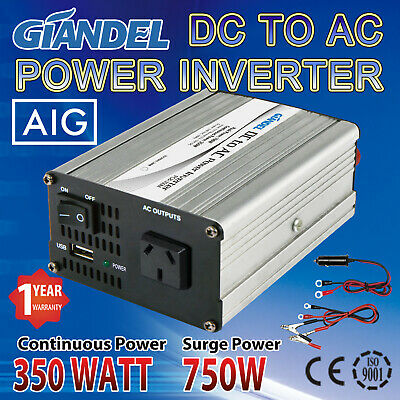 Power Inverter 350W / 700W DC 12V to AC 240V With Car Plug Cable Caravan Camping